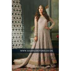 Almost Mauve Indian Party Wear Asian Anarkali Wedding Bridal Gown Dress