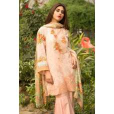 PEACH SPRING SUMMER LAWN EMBROIDERED READY MADE SUIT