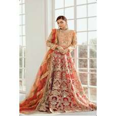 Orange & Red Indian Bridal Wedding Dress