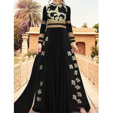 BLACK WEDDING WEAR LEHENGA GOWN MANUFACTURED BY ASIAN COUTURE