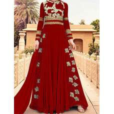 RED WEDDING WEAR LEHENGA GOWN MANUFACTURED BY ASIAN COUTURE