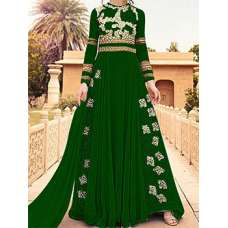 GREEN WEDDING WEAR LEHENGA GOWN MANUFACTURED BY ASIAN COUTURE