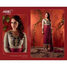5610 RED AND GREY KIMORA HEER PARTY WEAR SALWAR KAMEEZ SUIT