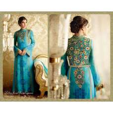 5711 BLUE AND MULTICOLOR HEER 8 BY KIMORA PARTY WEAR DESIGNER SUIT