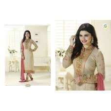 K3128 BEIGE KASEESH PRACHI MAGICAL BRASSO SUIT