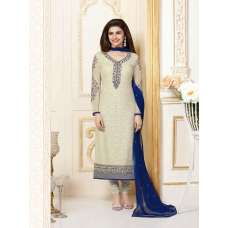 K3301 CREAM AND BLUE KASEESH PRACHI-15 PARTY WEAR SALWAR KAMEEZ SUIT