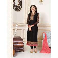 K3304 BLACK KASEESH PRACHI-15 PARTY WEAR SALWAR KAMEEZ SUIT