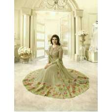 4747 BEIGE KASEESH PRACHI-28 SEMI STITCHED ANARKALI DRESS