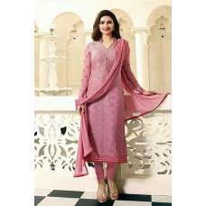 4383 PINK KASEESH MAGICAL BRASSO STRAIGHT SALWAR KAMEEZ SUIT