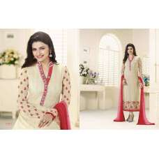 3214 CREAM KASEESH PRACHI-12 PARTY WEAR SALWAR KAMEEZ SUIT