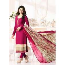 RED KASEESH SILKINA ROYAL CREPE 9 PARTY WEAR SUIT