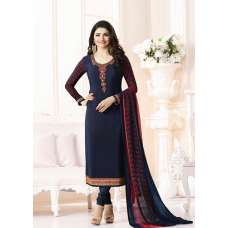 NAVY BLUE KASEESH SILKINA ROYAL CREPE 9 PARTY WEAR SUIT