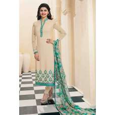 4567 CREAM KASEESH SILKINA ROYAL CREPE PARTY WEAR SUIT