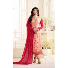 6365 RED AND PINK KASEESH VICTORIA PARTY WEAR STRAIGHT CHURIDAR SALWAR KAMEEZ