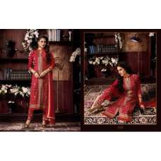 KIYAZA PENTAHOUSE RED PURE COTTON SALWAR KAMEEZ SUIT