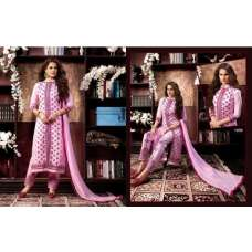 KIYAZA PENTAHOUSE LIGHT PINK PURE COTTON SALWAR KAMEEZ SUIT