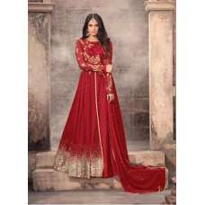 STUNNING RED LONG LENGTH WEDDING WEAR ANARKALI GOWN
