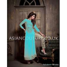 16005-B Blue Maisha Addiction Vol-3 Eid & Party Wear Dress