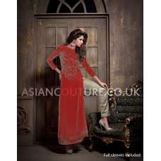16005-A Red Maisha Addiction Vol-3 Eid & Party Wear Dress