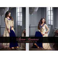 M20002-B BLUE AND SILVER GEORGETTE PARTY WEAR ANARKALI SUIT