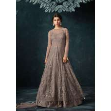 GREY INDIAN PARTY AND EVENING GOWN