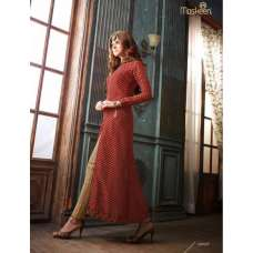 19008 MAROON AND BROWN MAISHA ADDICTION 5 PARTY WEAR SUIT