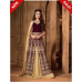 M2501 PLUM MAROON AND BEIGE MAISHA MASKEEN READY MADE VELVET SUIT (XS SIZE)