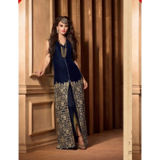 M2509 Dress Blue MAISHA MASKEEN VELVET SUIT.