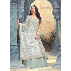 MINT INDIAN PAKISTANI WEDDING PARTY WEAR ANARKALI GOWN