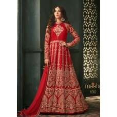 Red Indian Party Wear Asian Anarkali Wedding Bridal Dress