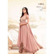 4602-B PINK MAISHA ZARI DESIGNER WEDDING WEAR LEHENGA STYLE DRESS