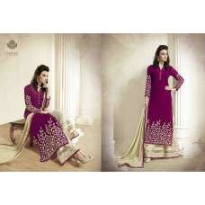 M18001 PURPLE AND BEIGE MEHAK PARTY WEAR GEORGETTE SUIT