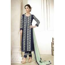 M18008 NAVY BLUE MEHAK PARTY WEAR GEORGETTE SALWAR KAMEEZ SUIT
