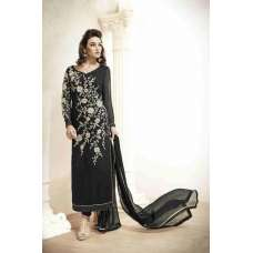 M18010 BLACK MEHAK PARTY WEAR GEORGETTE SALWAR KAMEEZ SUIT