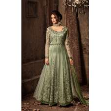 GREEN EVENING PARTY BRIDESMAID GOWN ( 2 WEEKS DELIVERY )