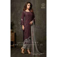 STUNNING MAROON PARTY WEAR SALWAR SUIT