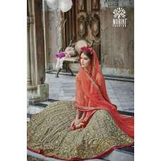 M24001 GOLDEN MOHINI HEAVEY EMBROIDERED ANARKALI DRESS