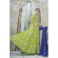 M24003 LIGHT GREEN MOHINI HEAVEY EMBROIDERED ANARKALI DRESS