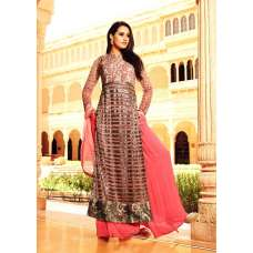 35004 MAROON MOHINI GLAMOUR PARTY WEAR SEMI STITCHED SUIT