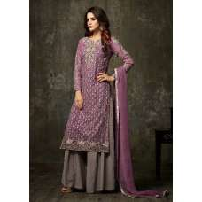 APPEALING PURPLE EVENING PARTY WEAR PAKISTANI & INDIAN PALAZZO SUIT (2 weeks delivery)