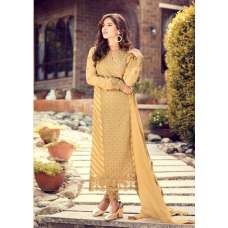 GORGEOUS YELLOW PARTY WEAR PAKISTANI & INDIAN SALWAR SUIT