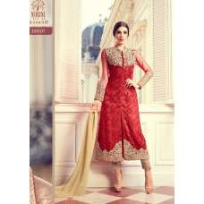 RED EVENING PARTY  WEAR INDIAN SALWAR SUIT