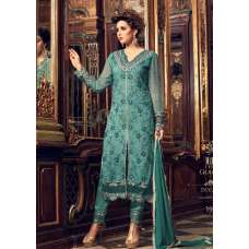 TEAL EVENING PARTY  WEAR INDIAN SALWAR SUIT