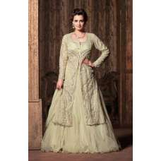 M22004 CREAM COLOUR MOHINI GLAMOUR PRINCESS WEDDING WEAR DRESS