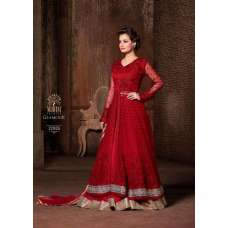 M22005 RED COLOUR MOHINI GLAMOUR PRINCESS WEDDING WEAR DRESS