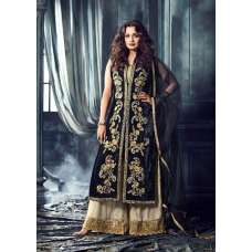 MG40004 NAVY BLUE MOHINI GLAMOUR HEAVY EMBROIDERED VELVET ANARKALI DRESS