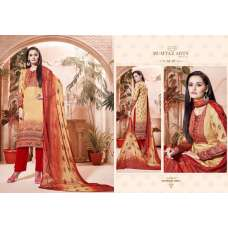 306 YELLOW AND RED CAMBRIC COTTON AND LAWN SALWAR SUIT