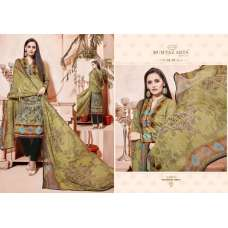 305 MEHNDI GREEN CAMBRIC COTTON AND LAWN SALWAR SUIT