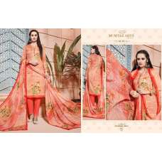 302 PEACH CAMBRIC COTTON AND LAWN SALWAR KAMEEZ SUIT