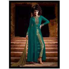 3021-B NAKKASHI STYLISH GREEN COLOUR PARTY WEAR SUIT